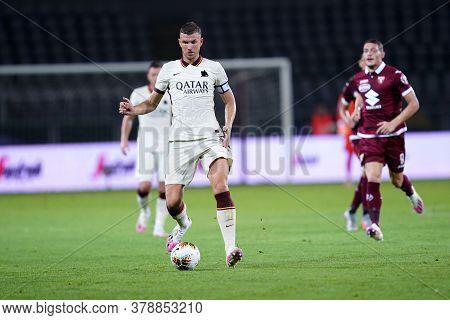 Torino (italy). 29th July 2020. Italian Serie A. Torino Fc Vs As Roma.edin Dzeko Of  As Roma  .