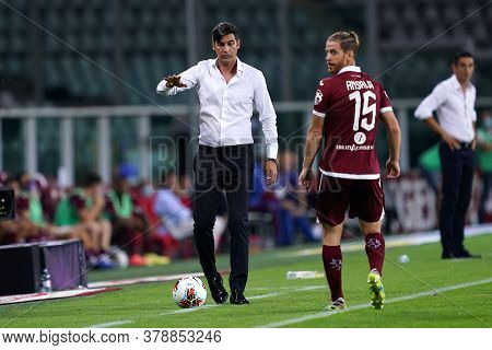 Torino (italy). 29th July 2020. Italian Serie A. Torino Fc Vs As Roma.paulo Fonseca Head Coach Of As