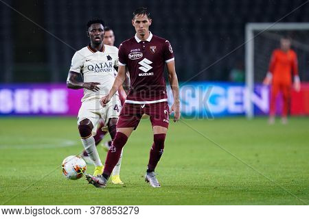 Torino (italy). 29th July 2020. Italian Serie A. Torino Fc Vs As Roma.sasa Lukic Of Torino Fc    .
