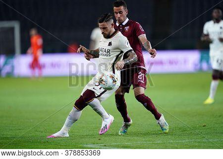 Torino (italy). 29th July 2020. Italian Serie A. Torino Fc Vs As Roma.carles Perez  Of  As Roma  .