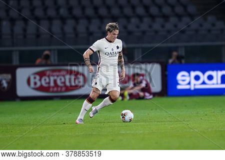 Torino (italy). 29th July 2020. Italian Serie A. Torino Fc Vs As Roma. Nicolò Zaniolo Of  As Roma  .