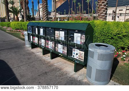 Las Vegas / United States - 05 Jul 2017: The Postbox In Las Vegas, United States