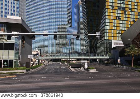 Las Vegas / United States - 05 Jul 2017: The Street In Las Vegas, United States