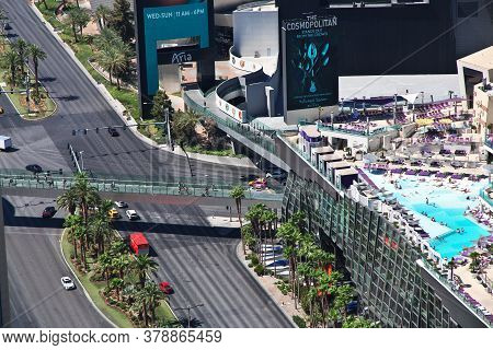Las Vegas / United States - 05 Jul 2017: Strip In Las Vegas, United States