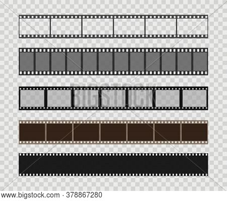 Film Strip Templates. Creative Vector Illustration Of Old Retro Film Strip Frame Set. Abstract Conce