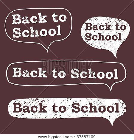 back to school, the bubble in chalk on a blackboard