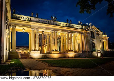 Bialystok, Poland - July 31, 2019: Beautiful Architecture Of The Branicki Palace In Bialystok At Dus