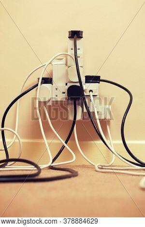 Photo of Overloaded multi extension plug