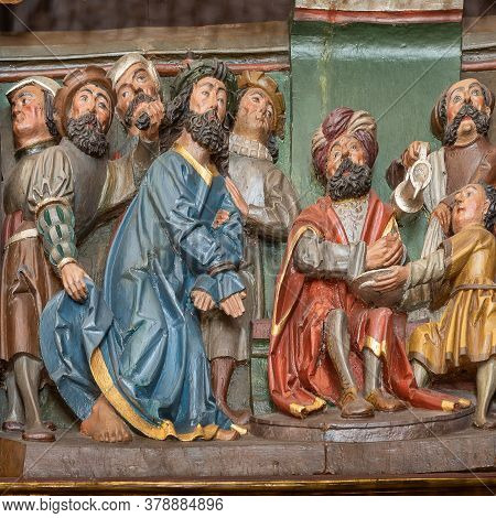 Jesus Befor Pilate, An Altar-piece From The Beginning Of The 16th Century, Hagested, Denmark, July 1