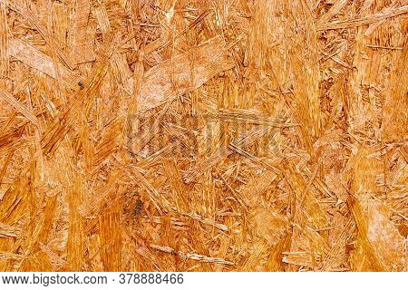 Pressed Wooden Panel Background - Texture Of Oriented Strand Board - Osb Wood Texture.