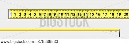 Building Meter Tape Measure For Measuring Dimensions - Vector