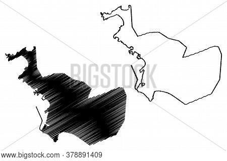 Latakia City (syrian Arab Republic, Syria, Latakia Governorate) Map Vector Illustration, Scribble Sk