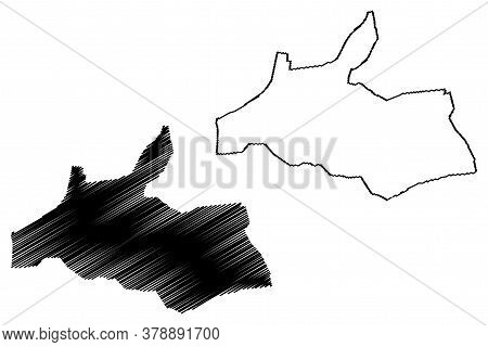 Al Ain City (united Arab Emirates, Uae, Emirate Of Abu Dhabi) Map Vector Illustration, Scribble Sket