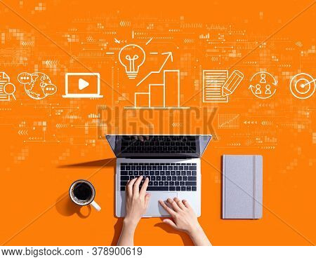 Content Marketing Concept With Person Using A Laptop Computer
