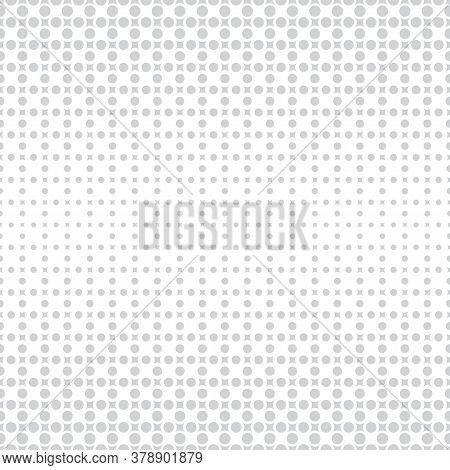 Vector Seamless Pattern. Abstract Halftone Background. Modern Stylish Texture. Repeating Grid With R