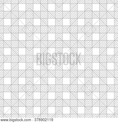 Vector Seamless Pattern. Modern Stylish Texture. Regularly Repeating Geometrical Ornament With Linea