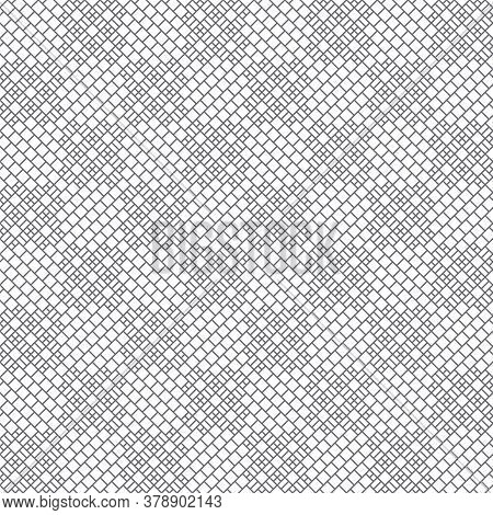 Seamless Pattern. Trendy Modern Geometrical Texture With Small Outline Rhombuses And Regularly Repea