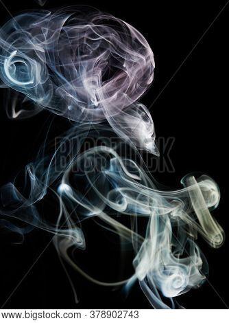 Abstract Purple And Blue Smoke Line