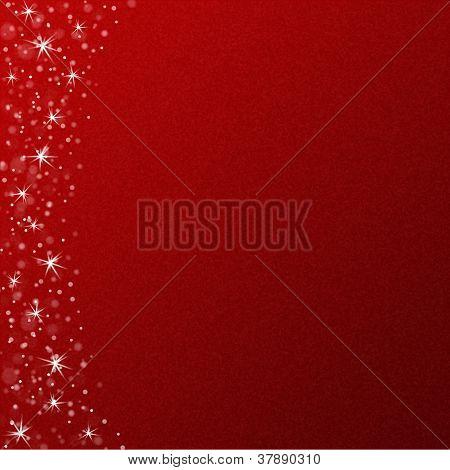 Christmas snow and stars