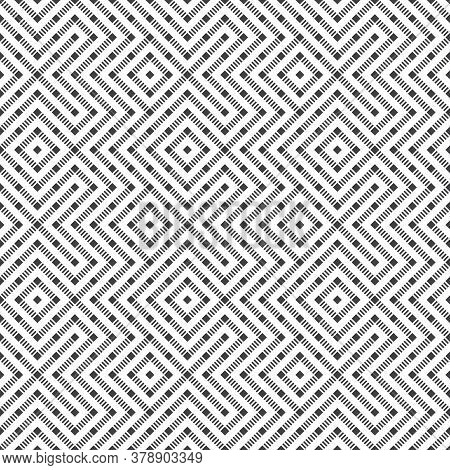 Seamless Pattern. Abstract Geometric Background. Modern Texture With Dashed Lines. Regularly Repeati