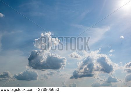 Beautiful Clouds In Natural Color. Background Texture.