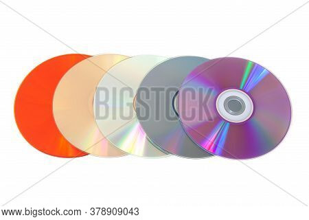 Compact Disk Under Green Laser Beam. Cd