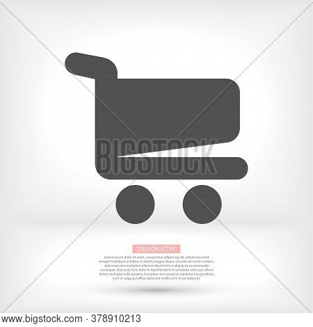 Shopping Cart Vector Icon. Vector Shopping Cart Vector Icon. Shopping Cart Illustration For Web, Mob