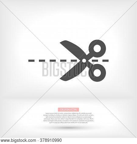 Scissor Vector Icon. Scissors Cut Vector Icon Design Element Or Logo Template. Vector Icon Black And