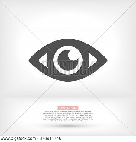 Eye Vector Icon. Open Eye Icon, The Eye Of The Beholder. Vector Icon Web Design Icon. Symbol Of The