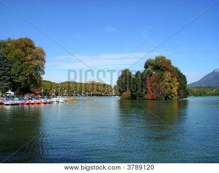 Swan Island In Autumn