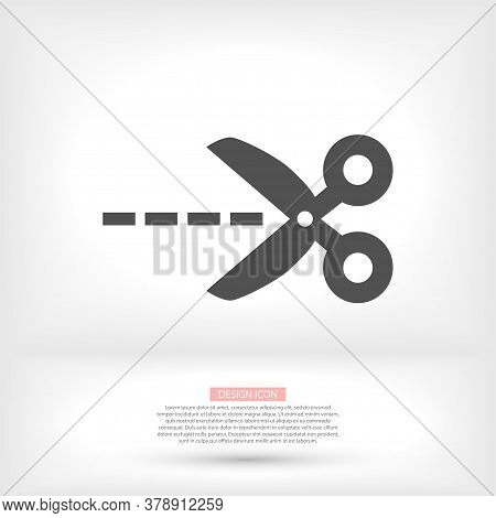 Scissors Icon In Trendy Flat Style Isolated On Background. Scissors Icon Logo, Application, User Int