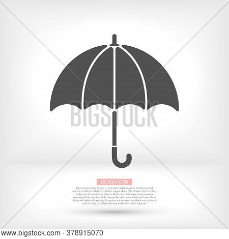 Black Classic Elegant Vector Icon Opened Umbrella Vector Icon Isolated On White Background.vector Ic