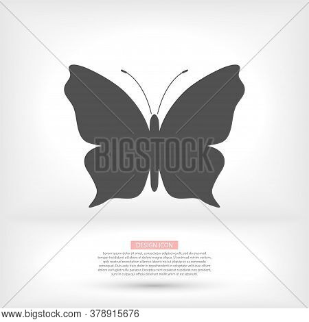 Butterfly. Universal Vector Icon For Web And Mobile Application. Vector Icon Illustration On A White