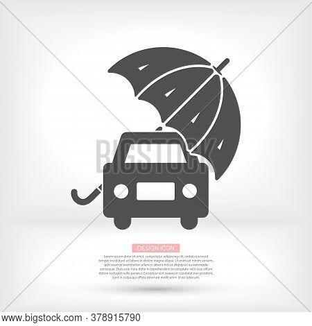 Plain Car Silhouette Vector Icon. Driving Logo. Vector Icon Image Of Vehicle Vector Icon . Front Vie