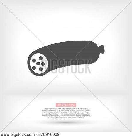 Grill Sausage Icon. Restaurant Icon. Kitchen Icon. New Trendy Sausage Vector Illustration Symbol For