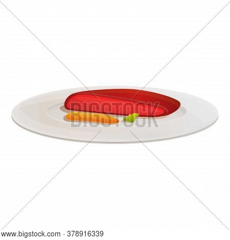 Molecular Cuisine Steak Icon. Cartoon Of Molecular Cuisine Steak Vector Icon For Web Design Isolated