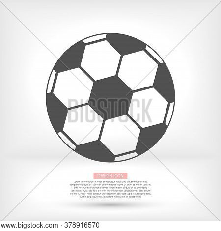 Soccer Ball Vector Icon. Soccer Ball Isolated On A White Background. Vector Logo Illustration.vector