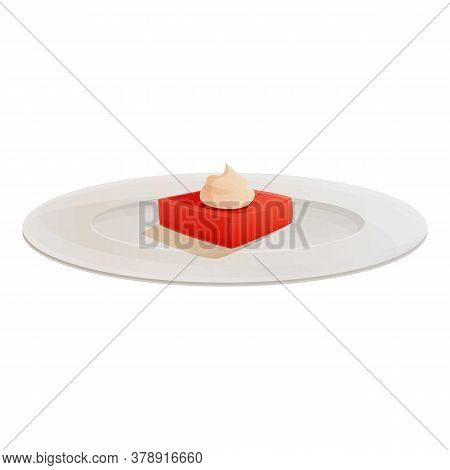 Cake Molecular Cuisine Icon. Cartoon Of Cake Molecular Cuisine Vector Icon For Web Design Isolated O