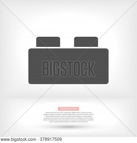Building Block Icon. Thin Line Flat Vector Related Icon For Web And Mobile Applications. It Can Be U