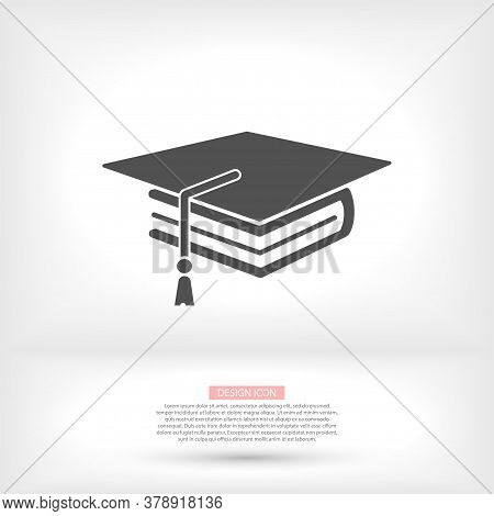 Black Open Book With Text Icon. Vector Icon Be Used As Logo For Bookstore Or Shop, Vector Icon Libra