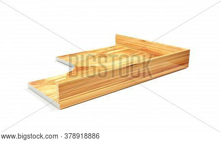 Wood Floor Fading Into White Background 3d Rendering Perspective