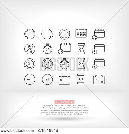 Businessman Style Vector Icon Many Calendars Hourglass