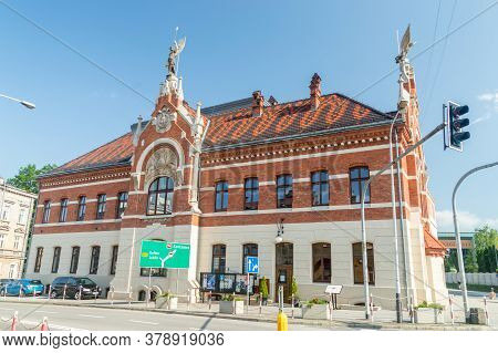 Jaroslaw, Poland - June 12, 2020: The Building Of The Falcon - Gymnastic Society - Was Built At The