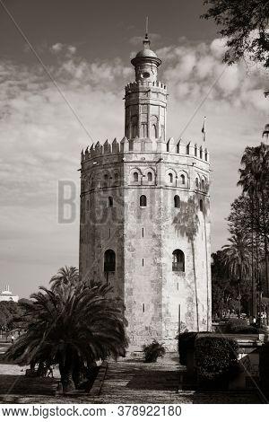 Seville Torre del Oro in Spain.