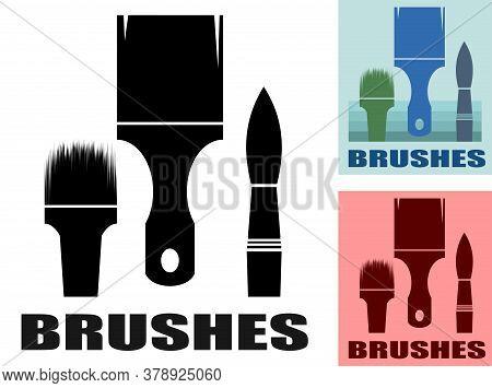 Brush Logo Vector. Isolated On White Background. Paint Brush Symbol. Artist, Painter. Tool For Paint