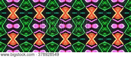 African Tribal Pattern. Ethnic Design. Geometric Seamless Print. Optical Wallpapers. Kaleidoscope Pr