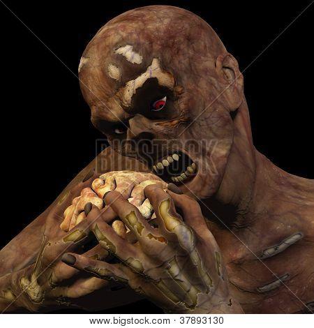 Zombie Eating Brain
