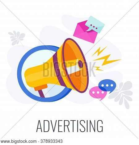 Advertising Icon. Creative Advertising And Marketing Strategy. Communication And Promotion. Introduc