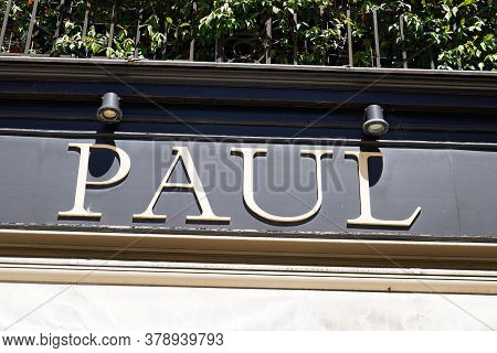 Bordeaux , Aquitaine / France - 07 25 2020 : Paul Text Sign And Logo Of French Bakery Store And Fast