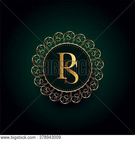 Royal P And S Letter Golden Luxury Logo Concept Design